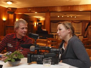 Ingo Hannuschka im Gespräch mit der WDR Redakteurin Petra Dierks
