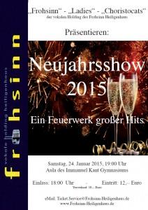 Plakat Neujahrsshow 2015