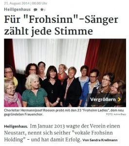 Rheinische Post Heiligenhaus vom 21.08.2014